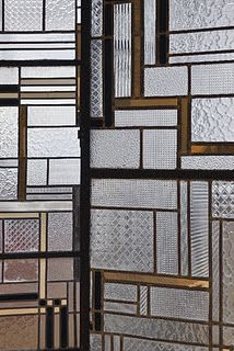 Stained glass with a contemporary edge...love the composition.