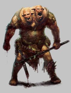 Ettin is an English three-headed giant. Well, this one has only 2 but let's use our imaginations...