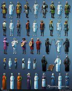 RENDER.RU -> Game Low-poly -> Персонажи эпохи средневековья