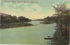 Chemung River,Looking North-Athens,Pennsylvania 1918