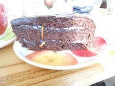 chocolate cake with marzipan