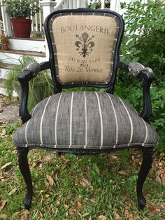 French Grainsack Chair
