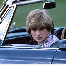 June 16, 1981: Shy Lady Diana attends a polo match at the Guards Polo Club in Windsor Great Park, following a day at Royal Ascot in Berkshire.