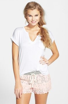 Free shipping and returns on BP. Undercover Lace Lounge Shorts (Juniors) at Nordstrom.com. Kicking back just got way cuter. Topped with a comfy drawstring waist, these floral lace lounge shorts finish with tiered, scalloped hems.