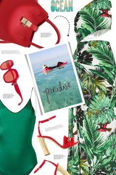 Tropical+one-shoulder+dress+♥️ from anne-irene  - trendme.net