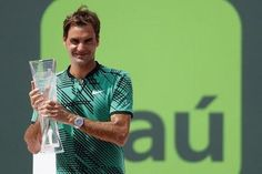 (Reuters) - Roger Federer clinched his 91st career title when he beat rival Rafa Nadal 6-3 6-4 in the Miami Open final on Sunday. Federer, peerless this year after returning from a six-month injury absence, broke once in each set for his fourth consecutive victory over Nadal, though the Spaniard still leads their career head-to-head record at 23-14, due entirely to his superiority on clay. Federer, now a three-time Miami winner, leads 10-9 on hardcourt.