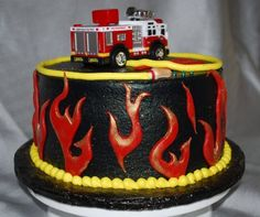 Firefighter Cake Designs Ideas for Your Boys Firefighter Birthday Cakes, Fire Engine Cake, Fire Cake, Fire Fighter Cake, Happy Birthday Cakes, Occasion Cakes, Cake Designs, Amazing Cakes, Cupcake Cakes