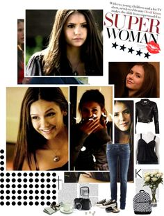"""style elena gilbert! : )"" by marigabi ❤ liked on Polyvore"