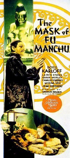 The Mask of Fu Manchu is a Pre-Code adventure film released in 1932, featuring Boris Karloff as Fu Manchu and Myrna Loy as his daughter