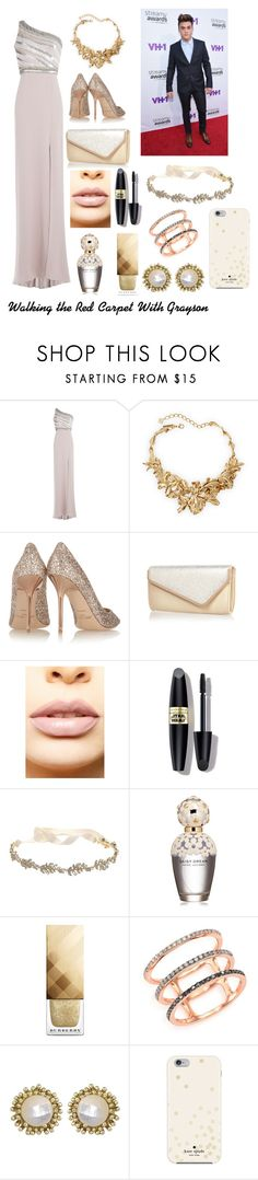 """""""Walking the Red Carpet with Grayson"""" by sketcher5467 ❤ liked on Polyvore featuring Jenny Packham, Oscar de la Renta, Jimmy Choo, River Island, LASplash, Max Factor, Marchesa, Marc Jacobs, Burberry and EF Collection"""