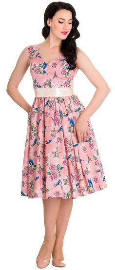 e3b44b243f07 Hell Bunny Lacey 50 s Pink Vintage 1950s Dresses