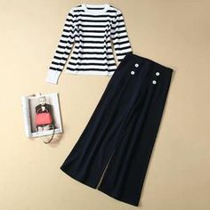 $91.99 FREE INTERNATIONAL SHIPPING Kate Middleton Striped Sweater Loose Black Pantsuit Modest Online Quality One Stop Hijab, Beauty, Cosmetics, Plus Size Wear for Hijabi Hijabista Kate Middleton Dress, Islamic Clothing, Loose Sweater, Sleeve Styles, Two Piece Skirt Set, Plus Size, Cosmetics, Skirts, Sweaters