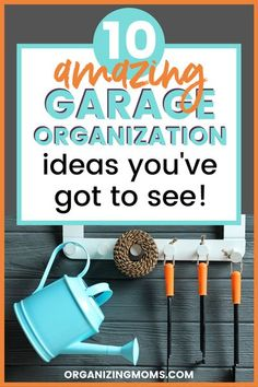 How To Organize Your Garage. Shelves overflowing, tools everywhere, slipping on toys in your garage? You've got to see the super smart garage organization ideas! Organize your garage today with ideas from this amazing inspirational collection of tips and ideas. #Organizing #Garage Garage Shed, Diy Garage, Garage Storage, How To Be More Organized, Organized Mom, Garage Workshop Organization, Organization Hacks, Organizing Your Home, Organizing Tips