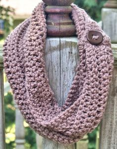 Girls Crochet Infinity Scarf Taupe 3T to 5 by BOOGITYBOOGITYBOO, $18.00