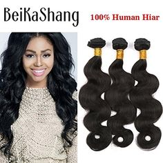 BeiKaShang unprocessed Brazilian virgin hair body wave 3 bundles Human hair extensions weaves 8x8x8 ** Continue to the product at the image link.