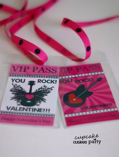 Valentine VIP Passes This fun little cards are so awesome and a unique valentine. You can find the vip pass tutorial here You can fin...