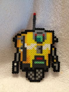 Borderlands Claptrap- Perler Bead art. $10.00, via Etsy.