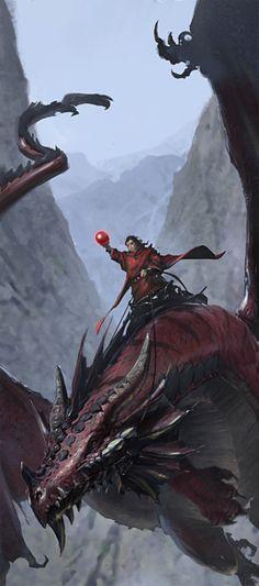 Fantasy Art Dragon Rider Rpg Ideas For 2019 Dragon Medieval, Medieval Fantasy, Fantasy Images, Fantasy Artwork, High Fantasy, Fantasy World, Magical Creatures, Fantasy Creatures, Dragon Rey