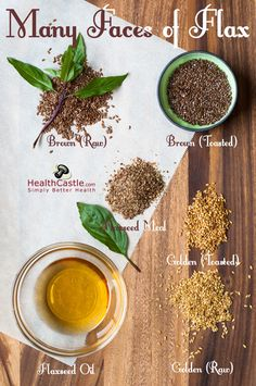 Flax Seeds - Which Kind to Choose and What Health Benefits? Healthy Tips, How To Stay Healthy, Healthy Recipes, Healthy Foods, Healthy Heart, Healthy Weight, Health And Nutrition, Health And Wellness, Nutrition Tips