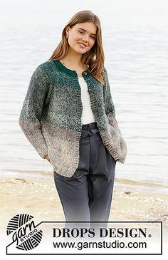 All Free Knitting, Knitting Gauge, Knitting Socks, Knitting Patterns Free, Drops Design, Cardigan Pattern, Knit Cardigan, Mohair Sweater, Work Tops