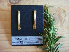 Paddle Earrings in Brass or Sterling Silver by SproutsAndRoots