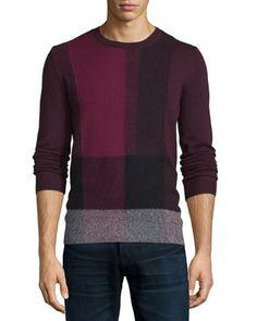 Sweater for Men Jumper On Sale, Burgundy Red, Cashemere, 2017, L Burberry
