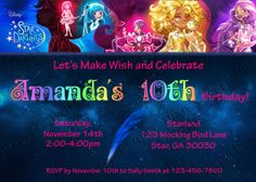 Star Darlings Disney Book Birthday Party Invitation by PurplePixiesKeep on Etsy