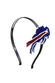 NFL Buffalo Bills The Grace Collection Sequins and Beads Horseshoe Hairband, 6 x 5 x 2.5-Inch, Blue *** Read more  at the image link.