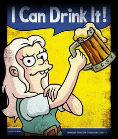 Princess Bean - I Can Drink It, Disenchantment Cartoon Shows, Cartoon Pics, Beer Cartoon, Friendzone, Desenhos Cartoon Network, Demon Drawings, American Cartoons, Adult Cartoons, Illustrations And Posters