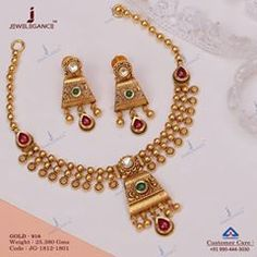 Craftsmanship that par brilliance. Get in touch with us on Antique Jewellery Designs, Gold Jewellery Design, Antique Jewelry, Antique Gold, Handmade Jewelry Bracelets, Handmade Jewellery, Long Pearl Necklaces, Gold Jewelry Simple, Jewelry Patterns