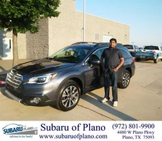 https://flic.kr/p/GxE56o | Happy Anniversary to Ajay on your #Subaru #Outback from Daniel Guerrero at Subaru of Plano! | deliverymaxx.com/DealerReviews.aspx?DealerCode=K252