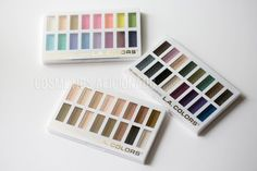 LA Colors 16 Color Eyeshadow Palettes-  Haute, Smokin', and Sweet