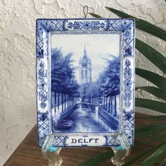 Pottery & China Porceleyne Fles Delft Tile Veere Cool In Summer And Warm In Winter