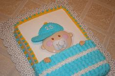 Baby Shower Cake for Boy for her husband who I know will be having his little one wear a hat ;)