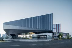 Image 1 of 43 from gallery of Tencent (Wuhan) R&D Center / GN. Photograph by Qingshan Wu Factory Architecture, Futuristic Architecture, Facade Architecture, Amazing Architecture, Wuhan, Design Commercial, Warehouse Design, Industrial Architecture, Facade Design