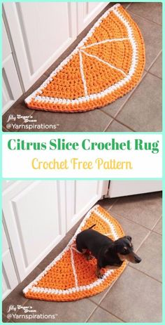 Crochet Citrus Slice Rug Free Pattern - Crochet Area Rug Ideas Free Patterns