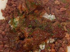 Braised Beef Short Ribs With Red Beans And Sushi Rice