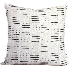 Dots and Dashes Print African Mud Cloth Pillow Cover - All Modern :: $80 (out of stock)