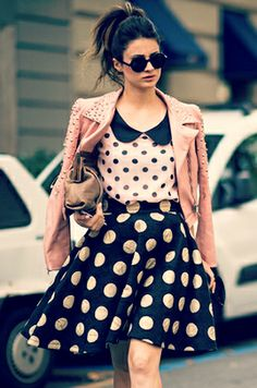 Mixing Patterns: polka dots polka dots