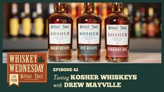 Master Blender Drew Mayville tastes and shares his thoughts on our Kosher Whiskeys: Wheat Recipe, Rye Recipe, and Straight Rye. Whiskey Wednesday, Buffalo Trace, Rye Whiskey, Distillery, Whiskey Bottle, The Creator, Special Events, Recipes, Thoughts