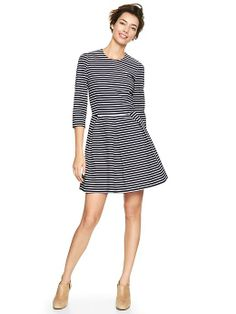 Gap Printed Fit & Flare Striped Dress $27