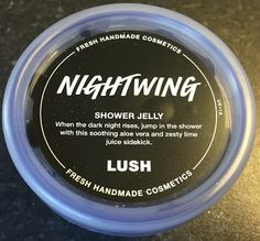 "Nightwing Shower Jelly: ""When the dark night rises, jump in the shower with this soothing aloe vera and zesty lime juice sidekick"""