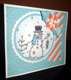 Kika's Designs : Snowman with blue Shawl / Snehuliak s modrým šálom