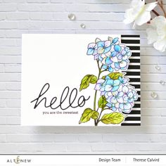 Card Making Kits, Stamp Making, Making Ideas, Flower Stamp, Flower Cards, Penny Black, Altenew Cards, No Rain No Flowers, Scrapbook Blog
