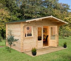 Exciting range of high quality garden log cabins for sale. Our log cabin kits are available in a variety of sizes, styles, and designs. Sheds For Sale, Cabins For Sale, Garden Log Cabins, Log Cabin Homes, Pallet House, Backyard Sheds, Backyard Storage Sheds, Garden Buildings, Tiny House Plans