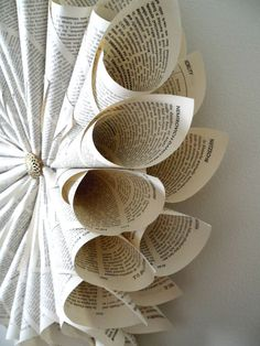 vintage book wreath