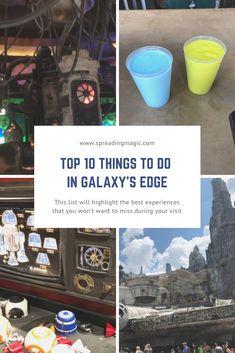 Top 10 Things to Do in Galaxy's Edge at Disney's Hollywood Studios Disney World Vacation, Disney Cruise Line, Disney World Resorts, Disney Vacations, Disney Parks, Walt Disney World, Stuff To Do, Things To Do, Authorized Disney Vacation Planner