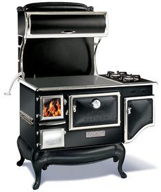 A different kind of wood burning stove but very cool!