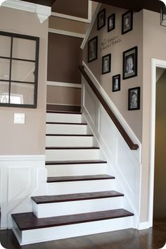 I SO want to rip up the carpet off our stairs and do this, but as long as we have carpet on the floors...