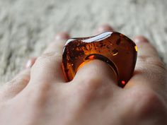 Baltic amber ring Amber jewelry Natural amber ring by AmberDesign8
